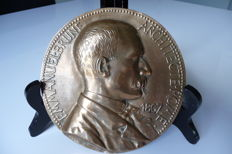 France - Medal 'Emmanuel Brune Architect Rome' 1867 by Jules-Clement Chaplain - Cast bronze