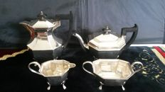 Martin hall&Co c1854\1866 tea coffee set sheffeild silver plate.
