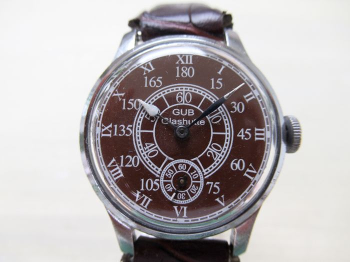 GUB Glashütte Aviator Military Look, men's watch from the 1950s