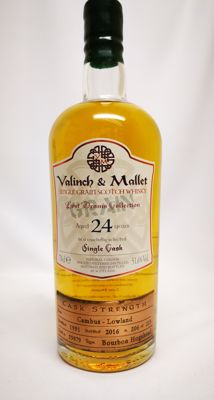 "Cambus 24 from Valinch & Mallet ""Lost dram collection"" 51.6% abv, bottle 206 of 223 botles."