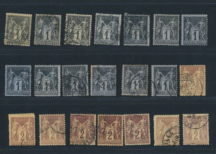 "France 1876 - Collection lot of  ""Sage Type II""   - Yvert n° 74 to 101"