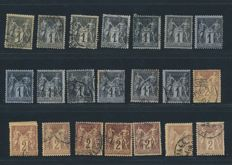 """France 1876 - Collection lot of  """"Sage Type II""""   - Yvert n° 74 to 101"""