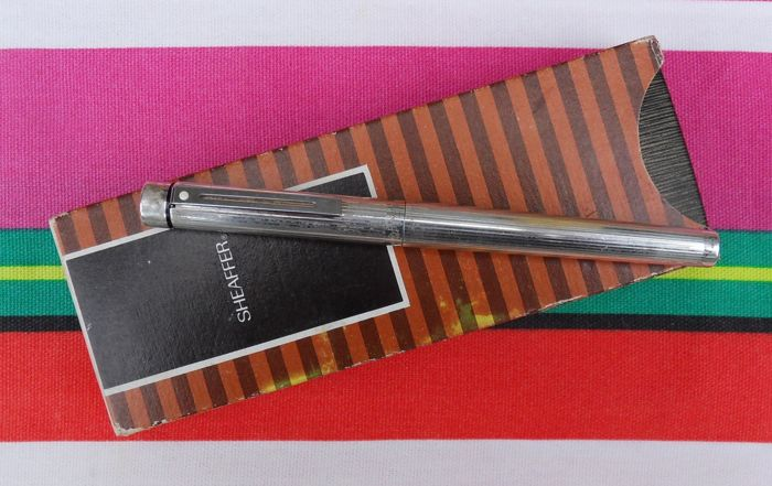 Sheaffer Targa 1004 Sterling Silver Fountain Pen + Sheaffer Box