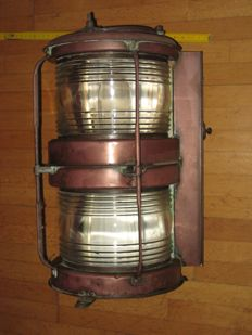 Nippon Sento Co. Ltd mast head light made of copper - Japan - second half of the 20th century