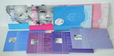 Netherlands - Year packs 2002/2009 'Birth sets' (8 different)