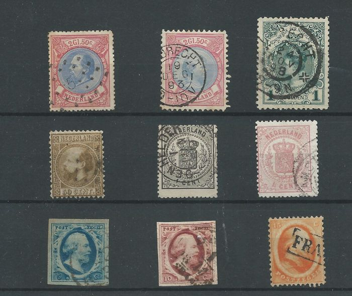 Netherlands 1852/1898 - selection classic - NVPH 1,2, 6, 12, 14, 16, 29, 47, 49