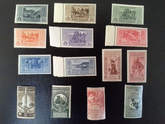 Kingdom of Italy 1911/1932 - 2 complete serires - Sass no. 315/324 and 92/95.