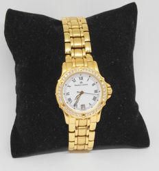 Maurice Lacroix — women's yellow gold watch with 36 diamonds