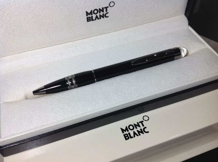 Montblanc Pen Starwalker Midnight Gray With Rhodium Ballpoint Pen in box, new
