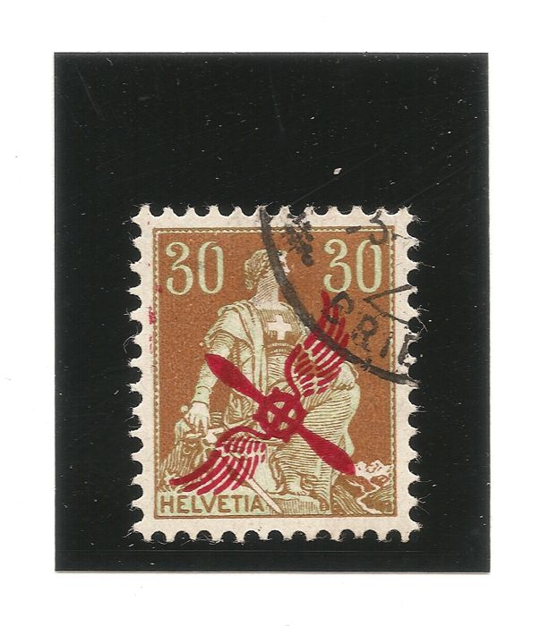 Switzerland 1920-30 Rp. Airmail – SBK F1, Michel 152