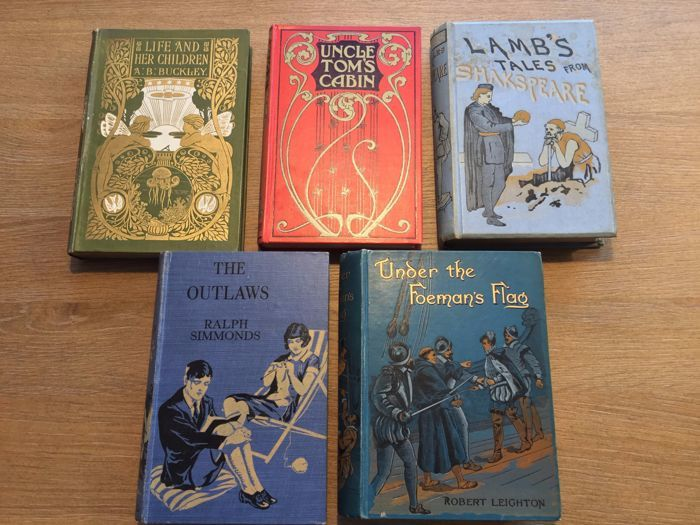 Youth; Lot with 11 illustrated children's books - 1880 / 1929