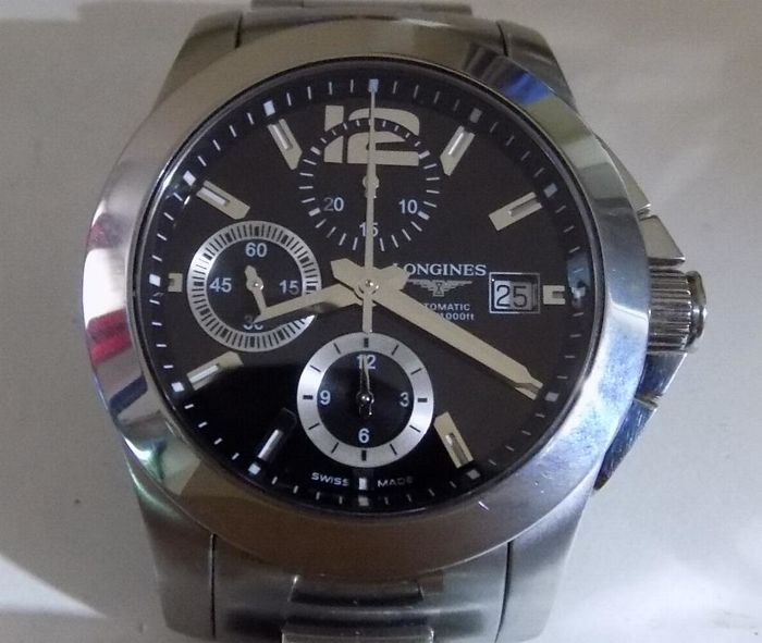 Longines Conquest - L3 662.4 - Black Dial - 300 Meters - 2000's - Men's Chronograph