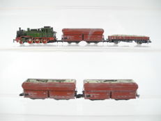 Märklin Z - 5-piece goods train Series BR 74 of the SNCB and 3 ore wagons and one flatcar [180]