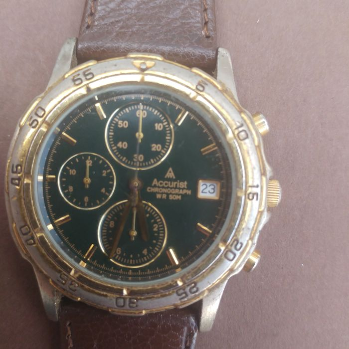 Accurist Chronograph MS 442 cal OS 60 men's wristwatch