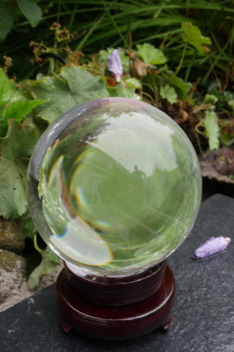 Two large glass/crystal balls for divination / clairvoyance