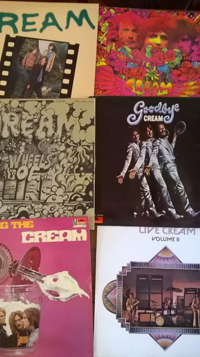 Cream : Lot of 6 lp's (of which 4 first releases)