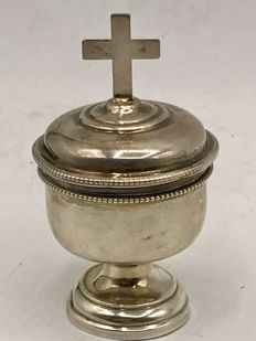 Antique silver unction jar.