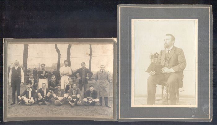 Portrait photos - 20 x with soccer club (1925) - 1893/1925