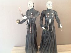 Hellraiser - 2x pinhead 18 inch Figure Motion Activated Talking - without box - Neca