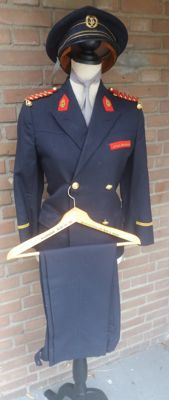 Costume jacket with pants and a cap