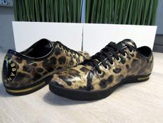 Dolce & Gabbana – Leopard leather lace trainers