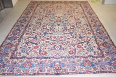 Persian carpet, Nain with silk – second half 20th century - 270 x 250 cm, with certificate of authenticity