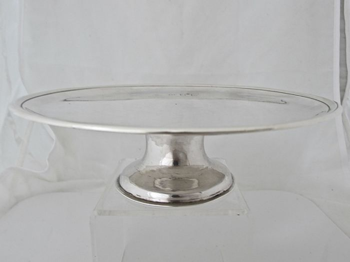 George I silver footed waiter/tazza, John Bache, London, 1723