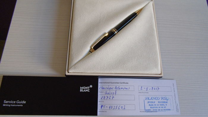 Montblanc Meisterstuck Mechanical Pencil Unicef Classique.