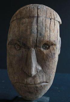 Very Old Skull Mask - YATMÜL - Sepik - Papua New Guinea