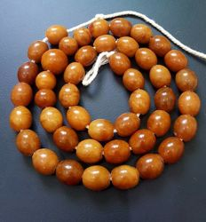 Natural Baltic Amber necklace egg yolk butterscotch colour,  54 gr.