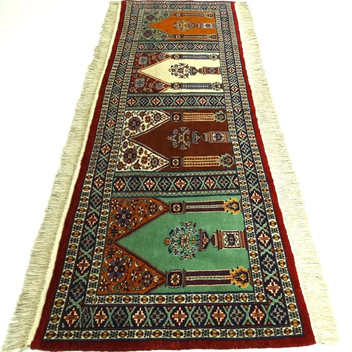 "Bukhara – 239 x 86 cm – ""Special, finely knotted Persian runner in top condition"" – With certificate"