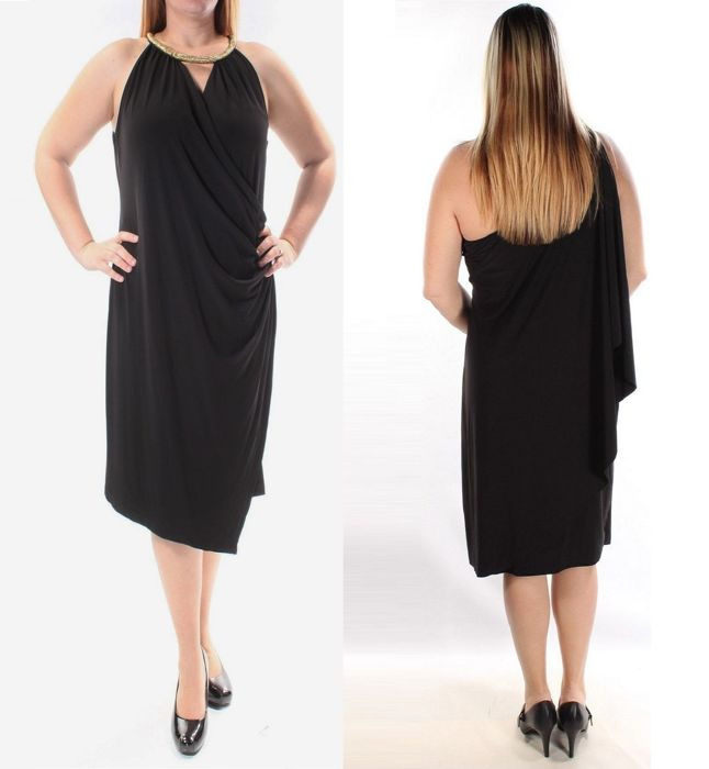 c1e646de53 Calvin Klein- Black halter cocktail dress - Catawiki