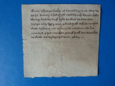Manuscript; Death notice from a North Brabant monastery - 1629 / 1645