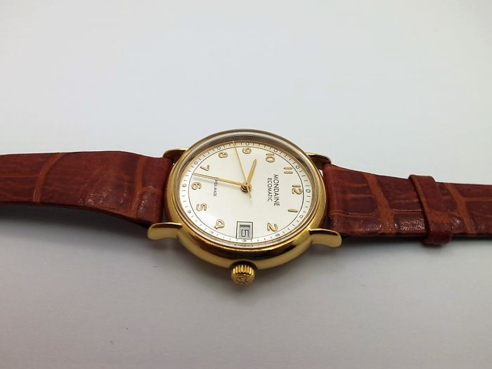 Mondaine automatic wrist watch gold p. men