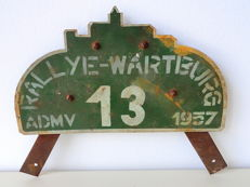 Wartburg original rally plate 1957