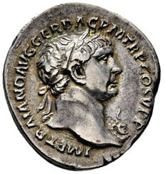 Roman Empire - Trajan (97-117 A.D.) silver denarius (3,26 g. 18 mm.). Rome mint. A.D. 103-111. SPQR OPTIMO PRINCIPI. Fortuna seated.