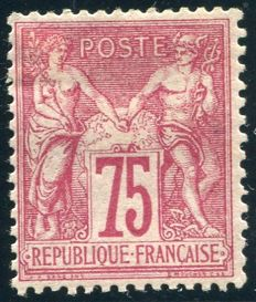France 1876 – Sage Peace and Commerce – Yvert 71.
