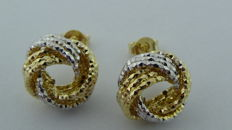 14 kt bicolour gold earrings – Diameter: 13 mm