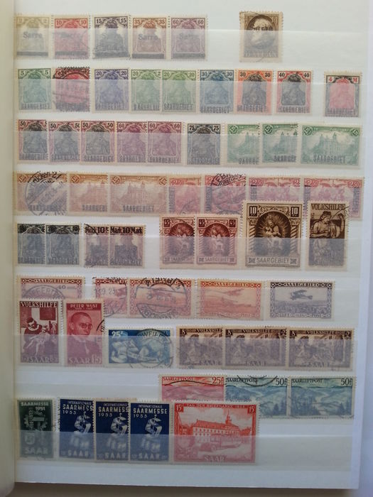 Saarland 1920-1959 - Selection of stamps.