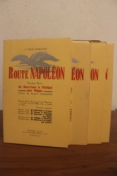 J. L. Mariaud & M. Chassing - Route Napoléon - 5 volumes - 1935
