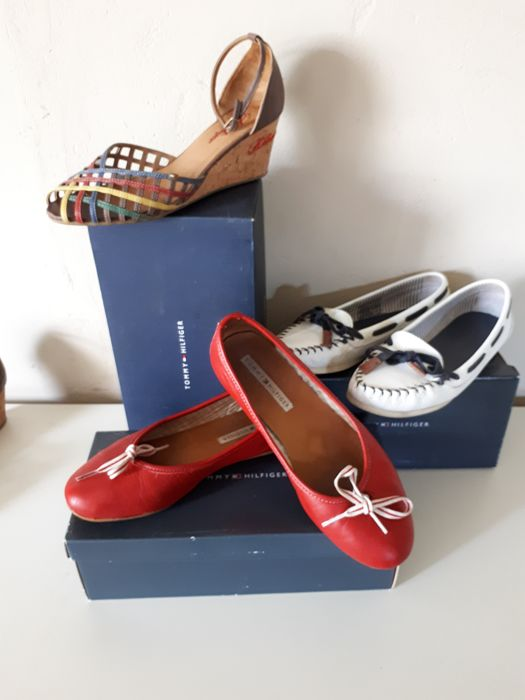Tommy Hilfiger, three pairs of shoes