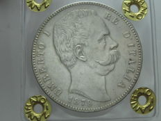 Kingdom of Italy – 5 lire 1879 – Umberto I – silver
