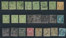 """France 1849/1900 - Collection lot of  """"Sage Type I et II"""" - Between Yvert n° 28A and 106"""