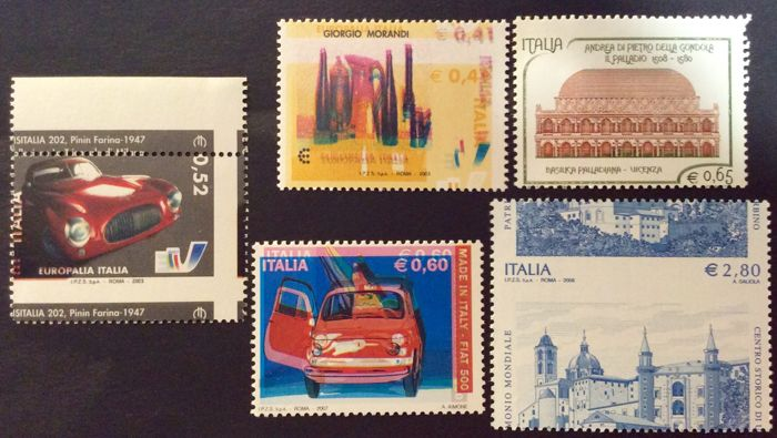 Italy – Lot of 5 Variations