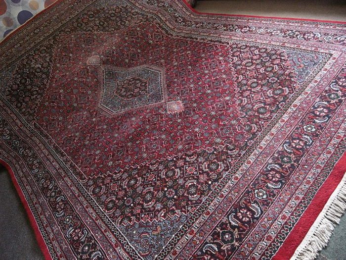 Beautiful BIDJAR wool INDIE Excellent condition  certyficate 250 x 350