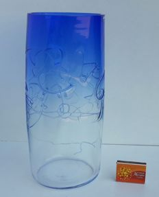 Alfredo Barbini - Vintage design vase with signature (30 cm)