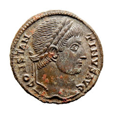 Roman Empire - Constantine I the Great (306-337 A.D.) bronze follis (3,22 g. 18 mm.). Siscia mint 326 A.D. PROVIDENTIAE AVGG. ·ASIS·