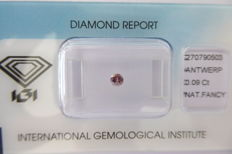 Natural Fancy Deep Greyish Pink Diamond 0.09 ct  with IGI cert *** no minimum price***