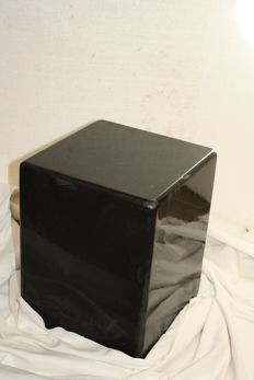 Beautiful hand-polished basalt pedestal.