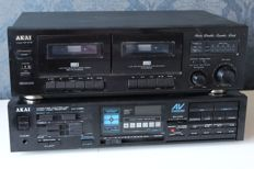 Akai AA-V105L - Computer Controlled Audio Video Receiver + Akai HX-27W Stereo Double Tape Deck